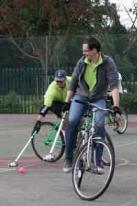 Tim Playing Bike Polo