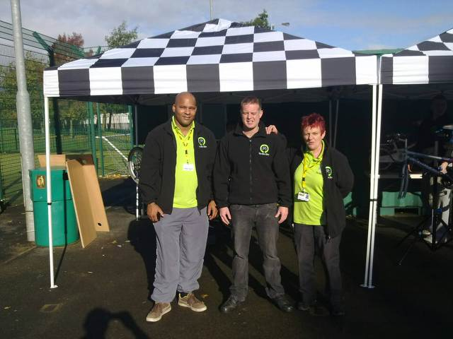 Wardens open satellite Bike Shed project in All Saints and it's a hit!